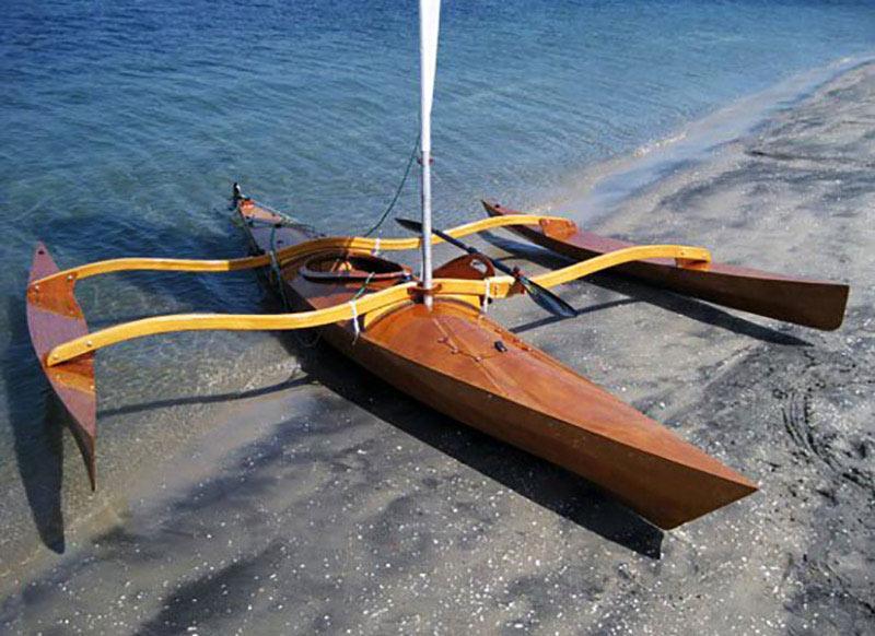 artist hand built kayak solo project soloist survivalist maldives