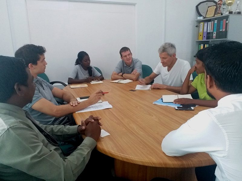 meeting with island elders and politicians to engage with a pollution free ocean