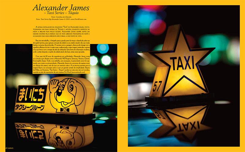 tokyo taxi design magazine double page spread