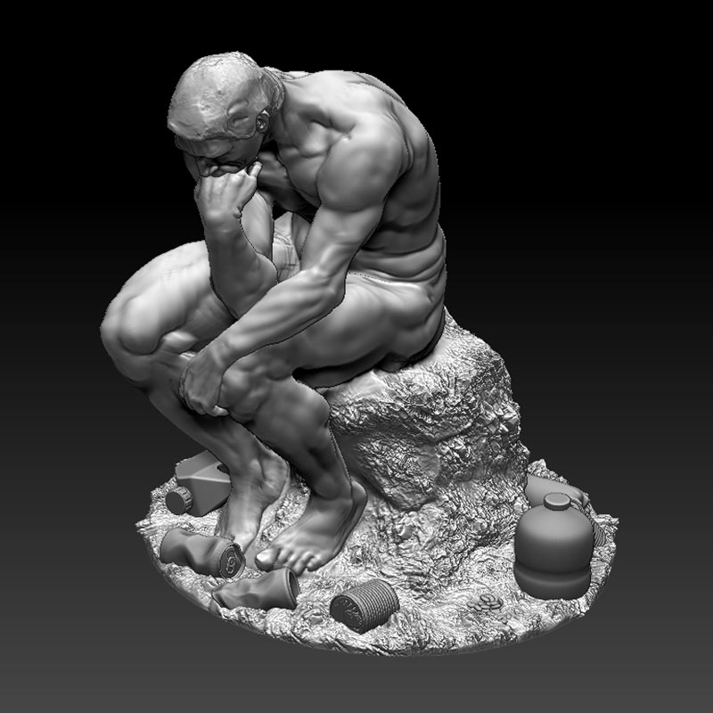 contemporary auguste rodin the thinker