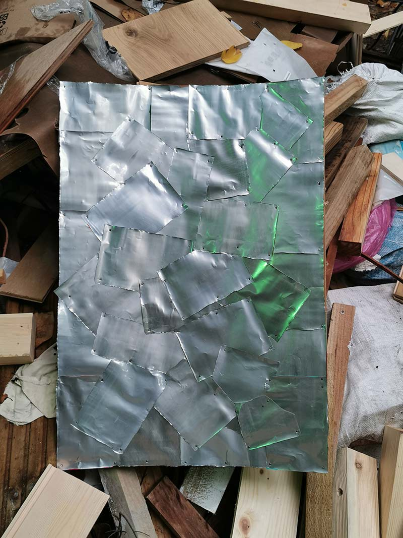 recycling 25000 aluminium cans for architectural detail feature of domed studio ceilings covering 124 sqm