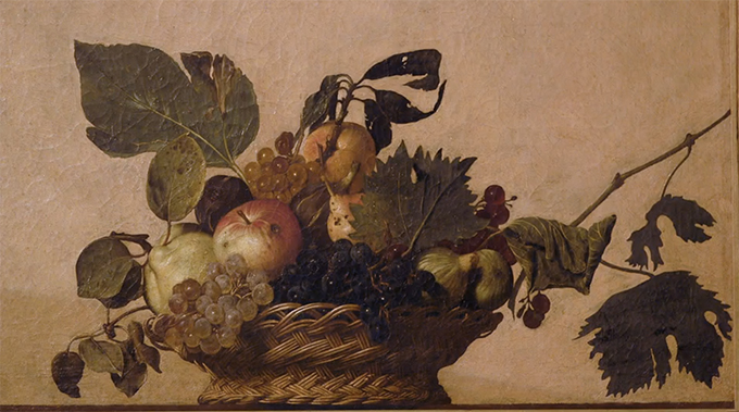 'Basket of fruit' by Caravaggio 1596 why is it so important