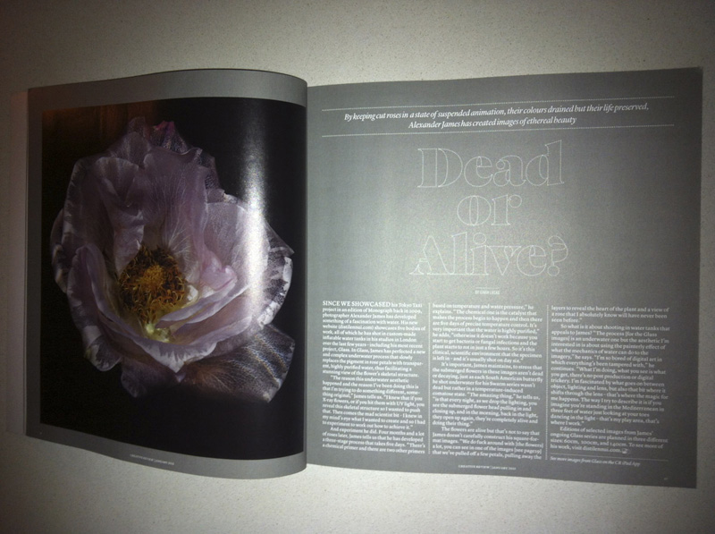 creative review discuss dead or alive opening page magazine spread