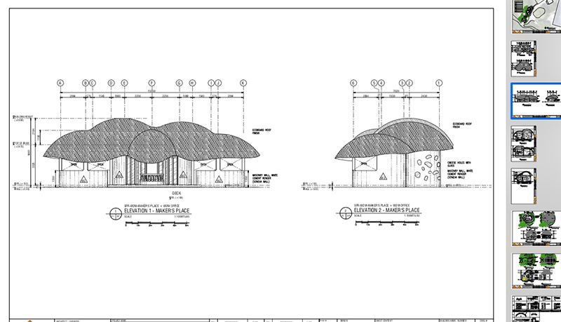 front elevation architectural drawings of makers place maldives