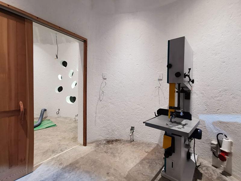 plastic and aluminium recycling artist studio
