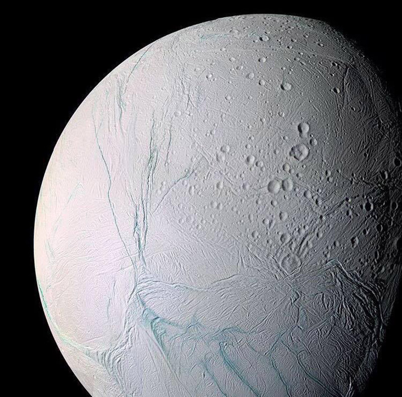 the ice planet as seens from Cassini