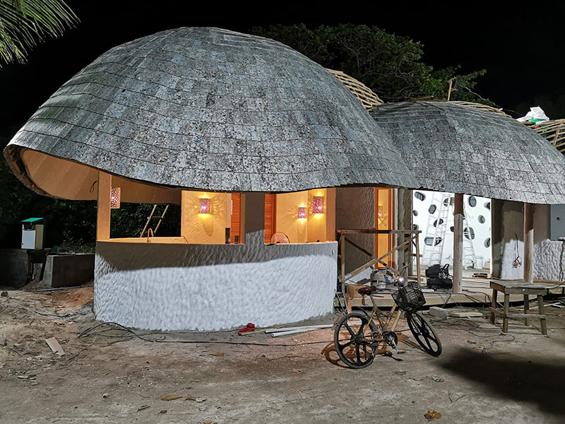 the first full circular business recycling facility in the maldives