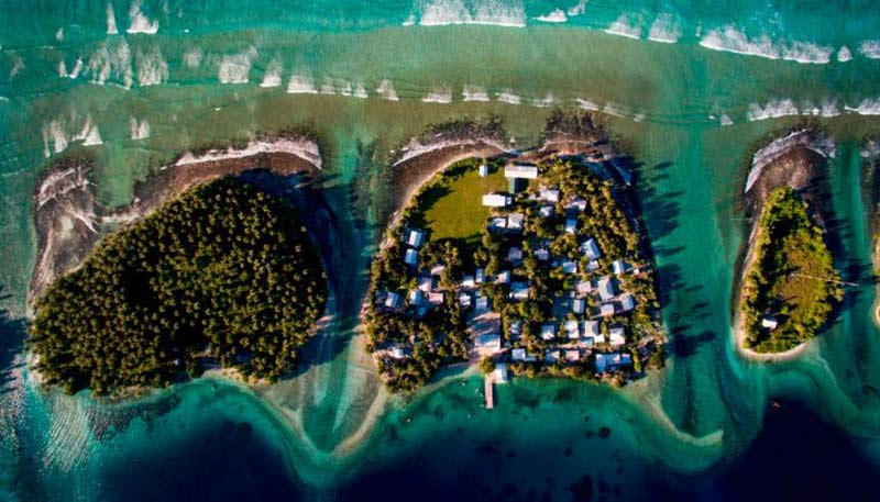 The Marshall islands facing population relocation due to environmental impact