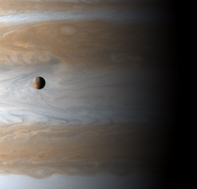 Lo is one of the 79 moons orbiting Jupiter,