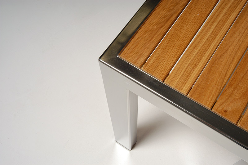stainless steel and ironwood furniture design by artist