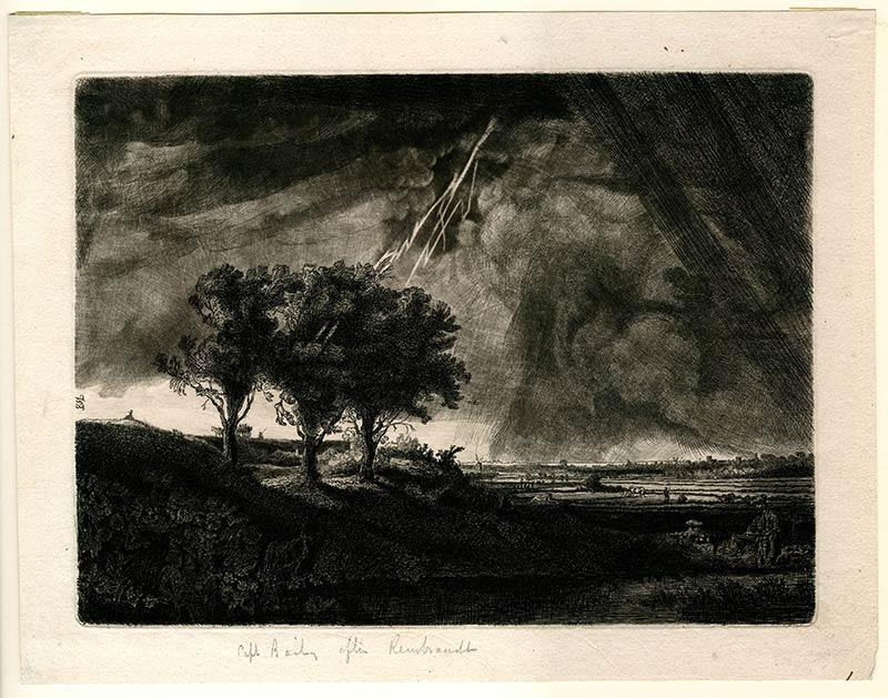 rembrandt landscape etching