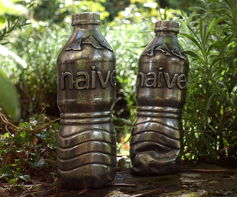 the naive twins aluminium ecocide sculpture