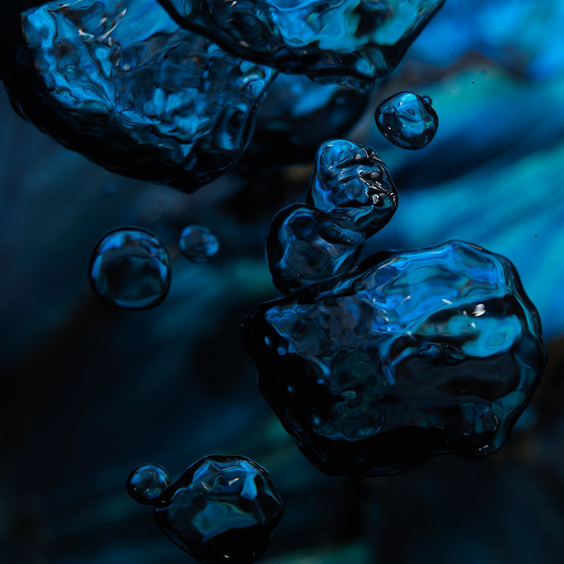 abstract imagery of skulls and dream like qualities underwater morpho blue butterfly bubble
