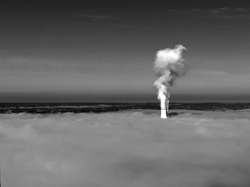 up in smoke nuclear chimney stacks pour water vapour into the atmosphere